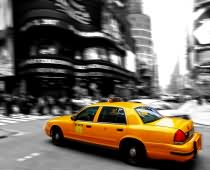 Obraz 000181 New York BW Yellow Cab II
