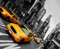 Obraz 000182 New York BW Urban Look Yellow Cabs