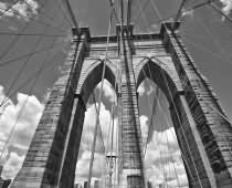Obraz 000183 New York BW Brooklin Bridge