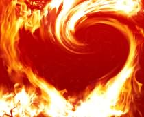 Obraz 00922 Fire Heart